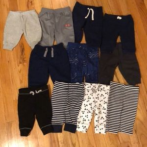 Bottoms - 12 pairs of boys sz 3-6mo sweatpants.